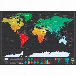 Deluxe World Scratch Map - TrendBaron.com