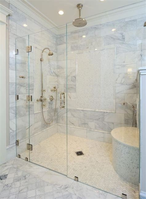 Zero Clearance Shower With A Shower Door  Master