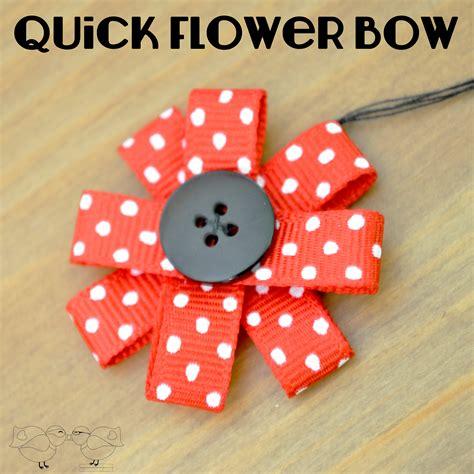 easy ribbon flower embellishment the nerds