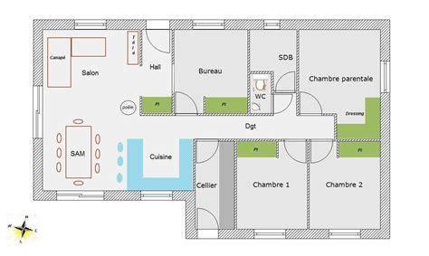 plan maison 4 chambres plain pied plan de maison 4 chambres plain pied gratuit ventana