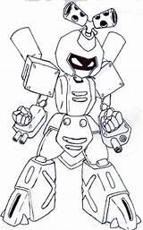 Medabots Coloring Metabee Standing Robot Coloringsky Sky Animal Cartoon Pokemon Template sketch template
