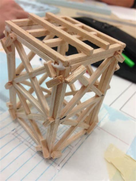 balsa wood tower