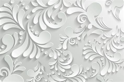 3d Wallpaper Texture Seamless by White Motif Pattern 3d Wallpaper For Walls Walls And Murals