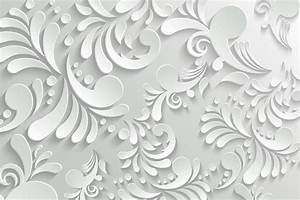 Abstract Motif White Wallpaper with 3d Effect. Walls and ...