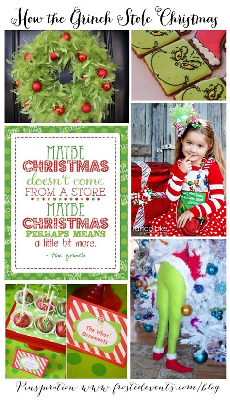 grinch   grinch stole christmas party ideas