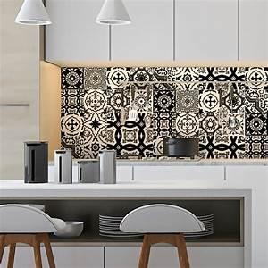 Art Et Carrelage : 16 stickers carrelages azulejos modernes nuance noir et ~ Melissatoandfro.com Idées de Décoration