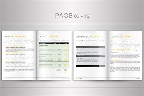 indesign proposal template brochure templates