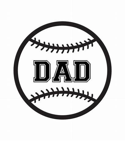 Svg Baseball Softball Cricut Silhouette Dad Mom