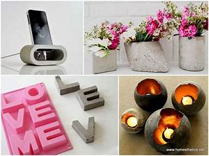 20 cute easy fun diy cement projects for your home With fun diy home decor ideas