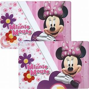 Disney Minnie Mouse Flowers Dining Place Mat Set