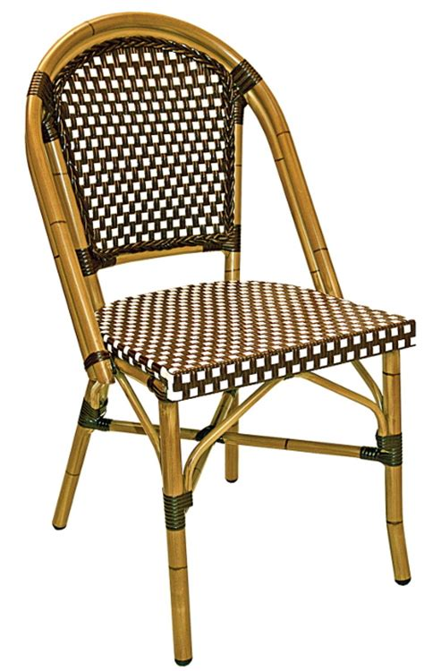 rattan outdoor bistro chair w bamboo painted frame