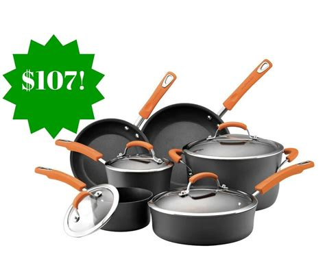 amazon cookware rachael ray nonstick anodized hard piece ii shipped pots pans sets cooking kitchen money