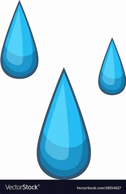 Water Cartoon Drop Drops Icon Vectorstock Icons