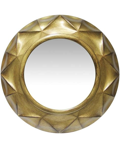Add a modern touch to your wall with this round framed mirror.this wall mirror makes both a functional and decorative impact in any space.its innovative metal frame makes it more durable than a typical wall mirror, and gives it a modern, industrialized look.its reflective surface helps to attract natural and artificial light, instantly making. Vigil Gold Round Circular Golden Finish Large Decorative ...