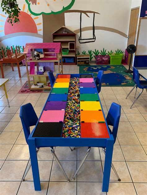 commercial sized big lego table activity