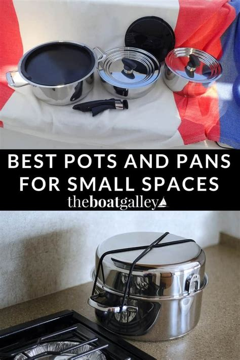 pans pots nesting spaces boat theboatgalley