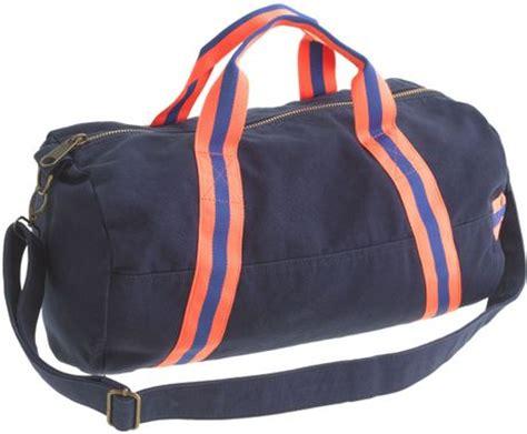 jcrew kids canvas duffle bag  blue classic navy lyst