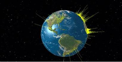 Globe Population 3d Its System Animated Map