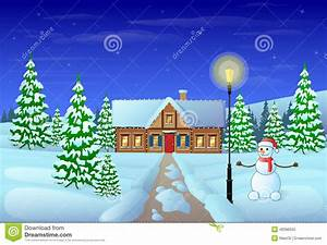 Christmas Eve Holiday House Winter Snow Gift Card Stock ...