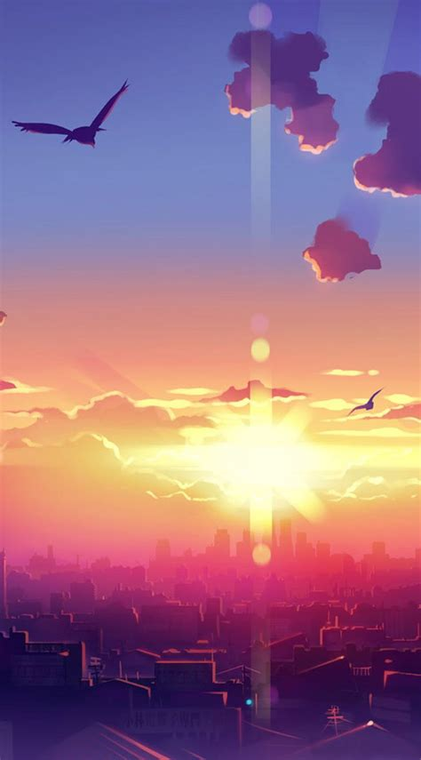 Http Hd Wall Papers Images Wallpapers Anime Anime Hd Widescreen Wallpapers Anime Sunset Scenery