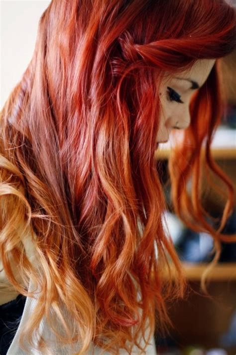 Red Hair With Blonde Tips Lua P Hair Pinterest