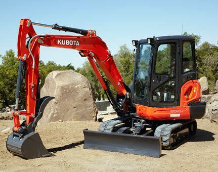 kubota kx compact excavator rental pine bush equipment