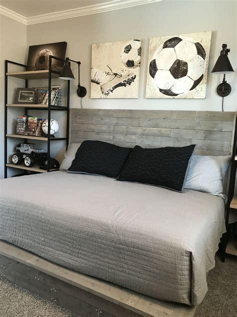 Boys Bedroom Ideas by Industrial Style Boy Soccer Themed Bedroom Diy Handmade