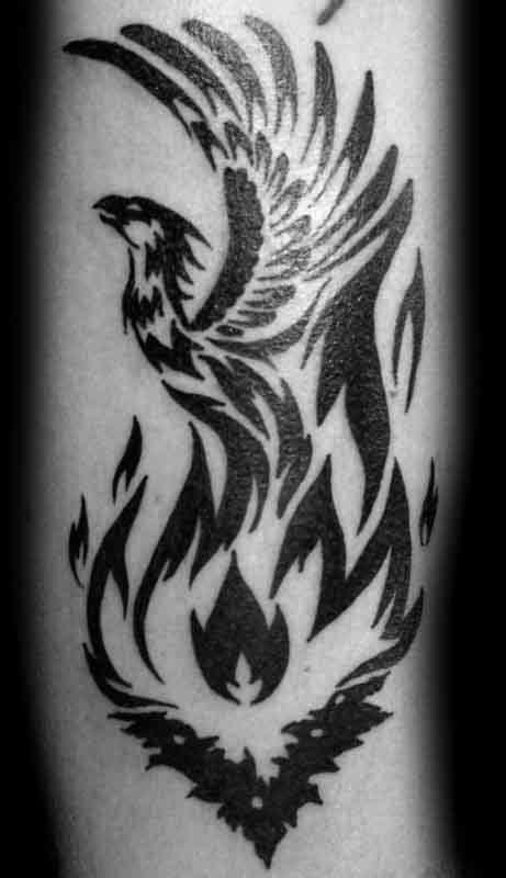 40 Tribal Phoenix Tattoo Designs For Men - Mythology Ink Ideas