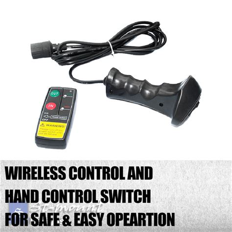 Electric Boat Winch Wireless Remote by 12000lb 12volt Electric Winch Wireless Remote Trailer 4x4