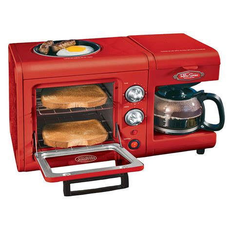 3 in 1 breakfast station coffee maker toaster oven