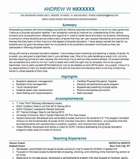 Soccer Resume Template by Soccer Coach Resume Ipasphoto