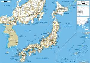 Detailed, Clear, Large, Road, Map, Of, Japan