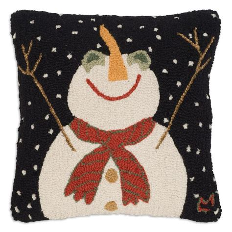 Snow Pillows by Let It Snow Pillow Hooked Snowman Pillows