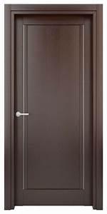Solid Wood Interior Door – Color: Wenge; Model: W26s