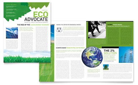 environmental  profit newsletter template word