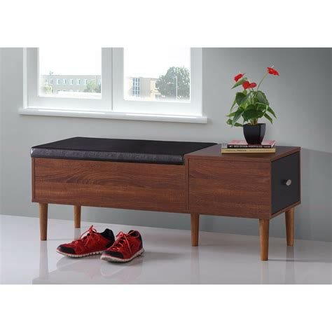 Storage Bench Modern by Shoe Storage Bench Modern Leather Rack Organizer Furniture
