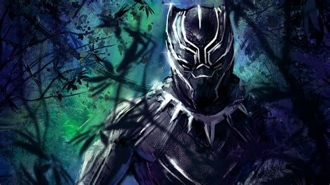 black panther amazing fan art hd superheroes