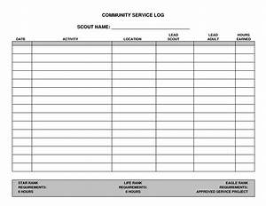 Free Printable Community Service Log Sheet