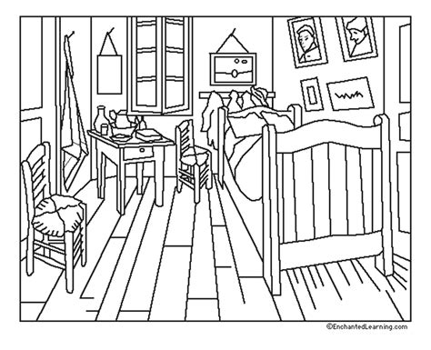 la chambre coucher gogh gogh chambre coloriage gogh coloriages pour