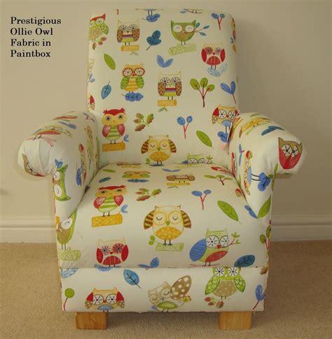 prestigious ollie owl fabric childs chair armchair bedroom