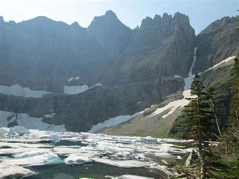 Fileiceberg Lake Glacier National Park Usa