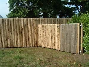 Cloture Jardin Bois : cloture jardin bois chataignier ~ Premium-room.com Idées de Décoration
