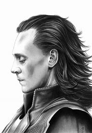 Tom Hiddleston Loki Drawing