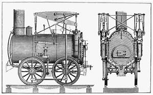 Schematic View Of The Stourbridge Lion  The First Commercial Locomotive In North America