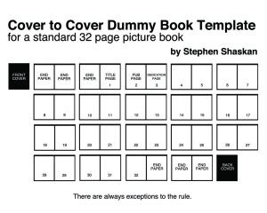 children s book template 32 page picture book dummy template 171 stephen shaskan rhymes with quot trashcan quot