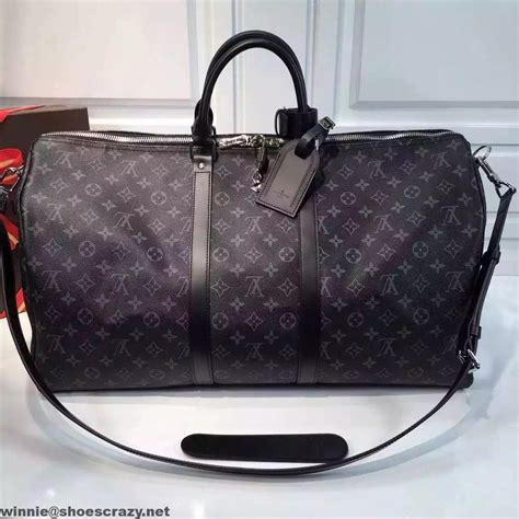 louis vuitton monogram eclipse keepall  bandouliere bag