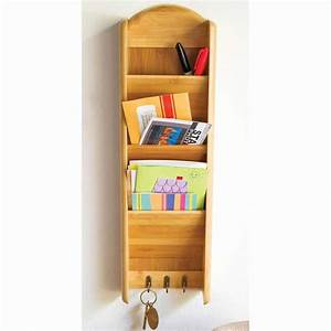 bamboo 3 tier vertical letter holder by lipper With 3 tier vertical letter holder