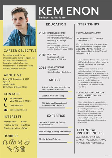 How To Make Professional Cv Format by 10 Standard Cv Formats Pdf Free Premium Templates