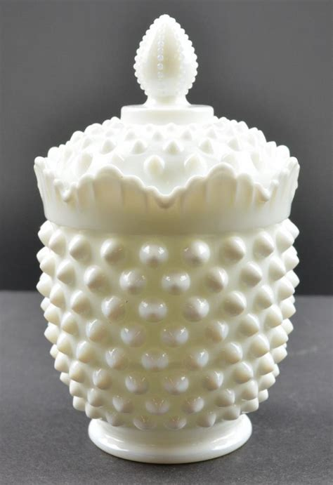 fenton milk glass fenton art glass hobnail milk glass pattern sugar bowl
