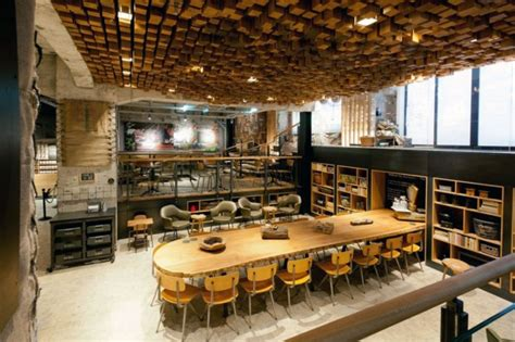 Starbucks Concept Store In Amsterdam by The Starbucks Concept Store Amsterdam Architectural